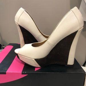 Brown/White Heels